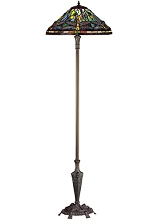 64 h tiffany dragonfly floor lamp tiffany dragonfly. Black Bedroom Furniture Sets. Home Design Ideas