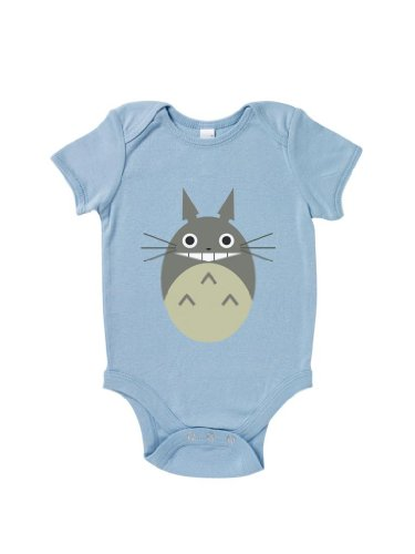 Blue Ivory My Neighbour Totoro Baby Grow Art Novelty Baby Shower Present front-924678