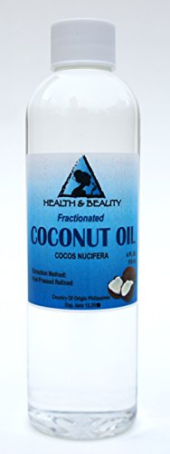Coconut Oil Fractionated Organic Carrier Ultra Refined Premium 100% Pure 4 oz