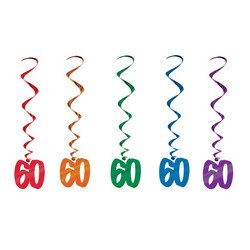 60 Whirls (asstd colors)    (5/Pkg)