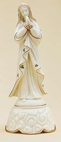 "9"" Musical Ave Maria Irish Virgin Mary Madonna Religious Porcelain Figure"