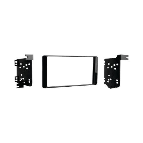 1 - 2014 Mitsubishi(R) Outlander Double-Din Installation Kit, Double-Din Radio Provision, Painted High Gloss Black, 95-7015Chg