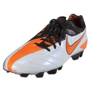 Nike Mens T90 Laser IV FG Black/Gray/Orange Football Cleats US 8 NIB