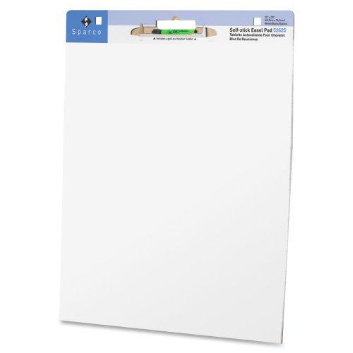 Self-stick Easel Pad,w/Carry Handle,Plain ,30 Sh,4/CT
