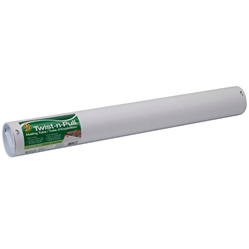 Duck Brand Twist-n-Pull Tamper-Evident Mailing Tube, 3 x 24 Inches, White (1163120)