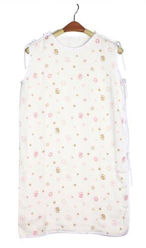 Dele Summer Thin Baby Sleeping Bag Newborn Baby Bamboo Fiber Gauze Side-Open Sleeping Bag (Pink) front-555301