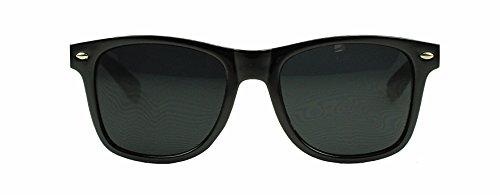 Spring Hinge Super Dark Black Lens Wayfarer Sunglasses - 100% UV400 Mens Womens oakley radar range adult lens kit sport sunglass accessories vented black iridium