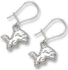 Detroit Lions Sterling Silver Dangle Earrings