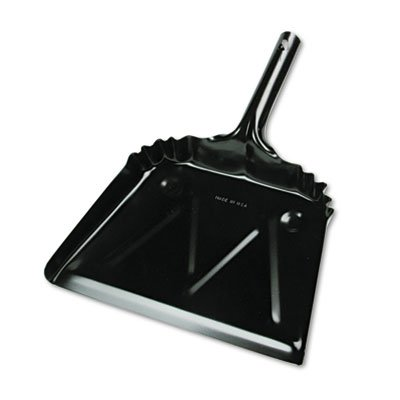 UNISAN Metal 12' Dustpan, Wide, Black (03000) (Metal Dust Pan Broom compare prices)