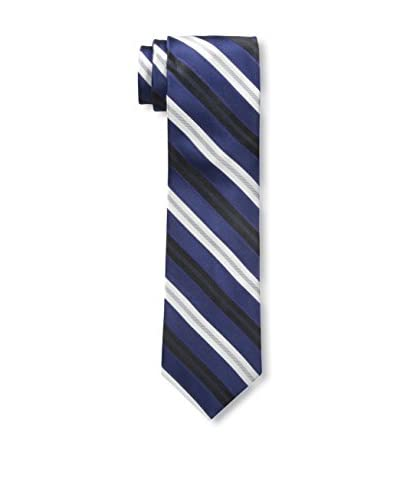 Nick Graham Men's Fine Line Stripe Tie, Navy