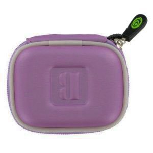 Lilac Universal Bluetooth Headset Pouch Carrying Case For Jabra Bt125 Bt135 Bt160 Bt185 Bt2040 Bt3010 Bt350 Bt5010, Nokia Bh-900 Bh-803 Bh-800 Bh-703 Bh-700 Bh-602 Bh-302 Bh-211 Bh-202 Bh-208 Bh-201 Hs-26W, Blueant Z9 Z9I X3 V1 V12, Samsung Wep700 Wep500