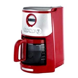 Kitchenaid Coffee Maker Stainless Steel Carafe : Amazon.com: KitchenAid Empire Red and Stainless Steel Digital clock/timer JavaStudio 14-Cup ...