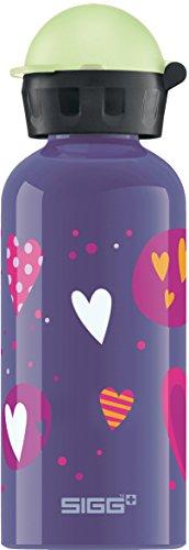 Sigg Mädchen Trinkflasche Glow in The Dark Heartballons, Lila/Bunt/Glow, 400 ml, 8505.60 thumbnail