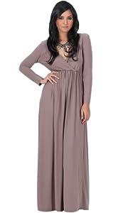 Polyester/Spandex Cocktail Empire   Waistline Long Sleeves Evening Dress/Maxi Dress