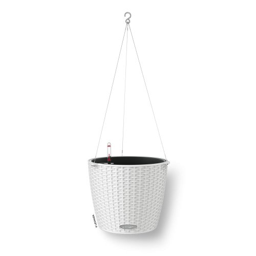 Lechuza Nido Cottage - All-In-One, White (Self Watering Hanging Planter compare prices)