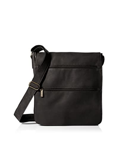 David King Men's Laptop Messenger Bag, Black
