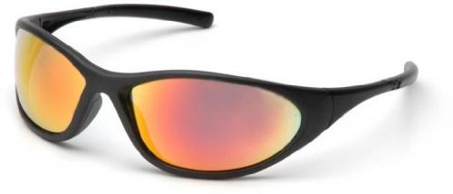 Pyramex Zone Ii Safety Glasses - Ice Orange Mirror Lens, Matte Black Frame Sb3345E, 12