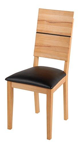 SAM-Esszimmerstuhl-Hugo-in-Kernbuche-gelt-Stuhl-mit-schwarzem-SAMOLUX-Bezug-auf-der-Sitzflche-angenehme-Polsterung-pflegeleichter-Stuhl-mit-geschwungener-Rckenlehne