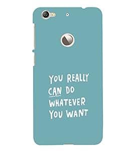 EPICCASE You can do Mobile Back Case Cover For LeEco Le 1s Eco (Designer Case)