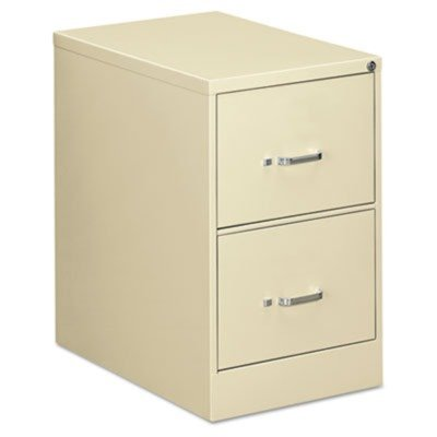 OIF - Two-Drawer Economy Vertical File, 18-1/4w x 26-1/2d x 29h, Putty - Sold As 1 Each - Wire follower block keeps files upright.