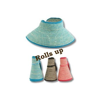 Beach roll up visor hat.