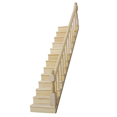 Pre Assembled Wooden Staircase Stair Stringer Step With Right Handrail Dollho