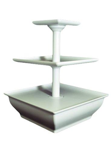 EdgeVantage White Three Tier Server Station - Dessert Tray - Cupcake Stand - Food Display (Buffet Server 3 Tier compare prices)