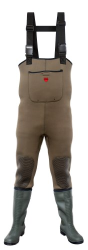 VITAL VW161 Green Neoprene Chest Waders with PVC Steel Toe Cap and Midsole Protection Wellington Boots