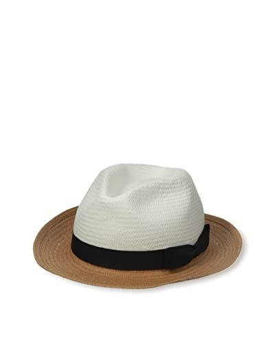 Rossovivo Men's Louis Hat, Cognac/White