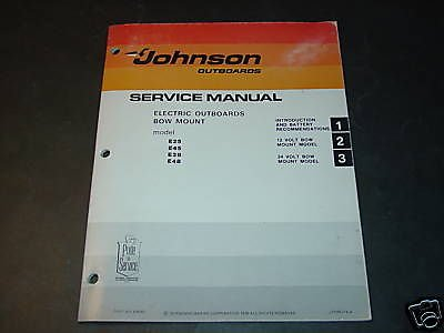 1977 Johnson Electric Outboard Motor Service Manual