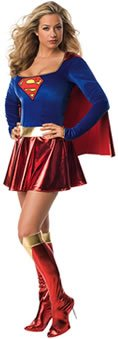 Deluxe Supergirl Costume - Large - Dress Size 14-16