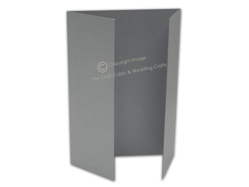 x50 A6 Gatefold Silver Shimmer Blank Cards