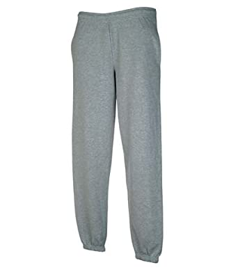 Fruit of the Loom Elasticated Jog Pants, Heather Grey, L