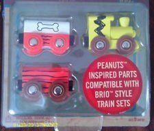Peanuts Wood Train Cars (3 car set) - 1