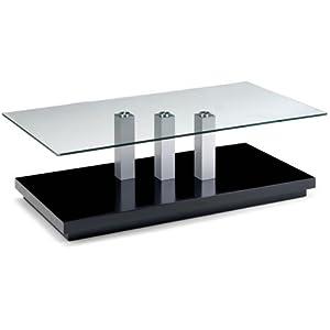 Modern Coffee Table   Glass Tokyo Design   Chrome Legs & Black Base   Living Room       Customer reviews