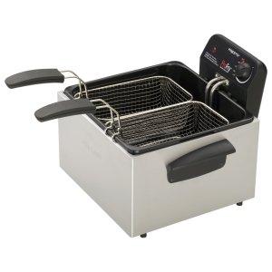 Presto Profry 05466 Dual Basket Deep Fryer - 3 Quart Oil-05466 front-371640