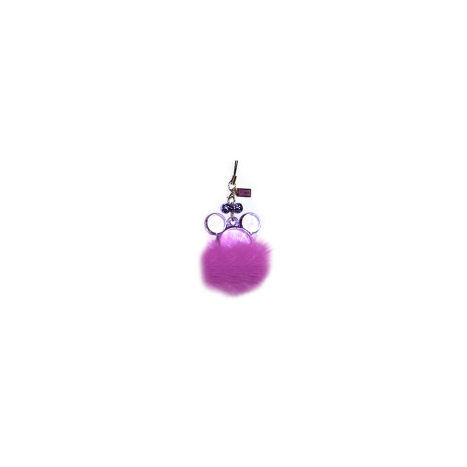 Disney Mickey / Minnie Mouse Purple Furtastic Handheld & Cell Phone Charm