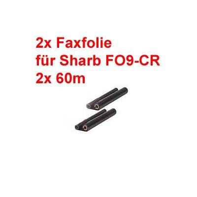 2 Stück UX-9CR / UX 92 CR baugleiche Faxrolle Inkfilm Druckfolie baugleich zu  für Sharp UX-A460 D10 P400 P410 P430 S10