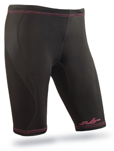 Sub Sports RX Women's Graduated Compression Baselayer Shorts - XX-Large, Black Stealth
