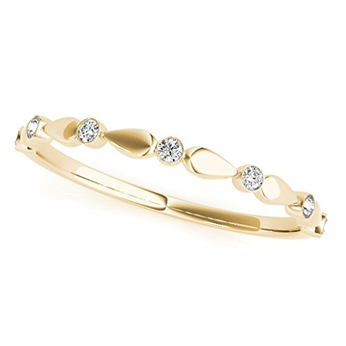 007-Carat-Round-Diamond-Antique-Wedding-Band-In-14K-Solid-Yellow-Gold