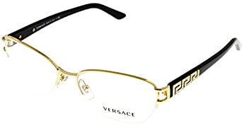Rimless Glasses Vs : Amazon.com: Versace Women Eyeglasses Designer Gold Semi ...