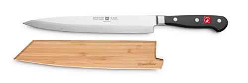 Wüsthof TR9753 Couteau Japonais Yanagiba avec Fourreau en Bambou Métal
