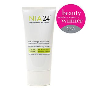NIA24 Sun Damage Prevention 100% Mineral Sunscreen, 2.5 fl oz