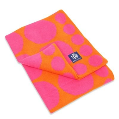 Bella Tunno Connect The Dots Knit Stroller Blanket In Fucshia - 1