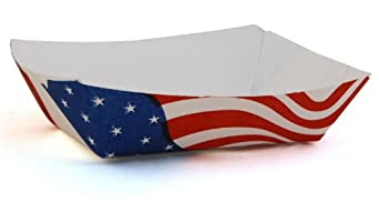 Southern Champion Tray 0531 #40 Paperboard USA Flag Food Tray, 6-oz Capacity (Case of 1000)