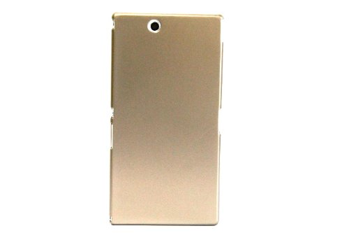XPERIA Z Ultra メタリックデザイン スリムフィットケース ( au SOL24 / SGP412JP 対応 ) Metallic Design Cover Case PCハード素材カバーChampagne Gold(シャンパンゴールド)