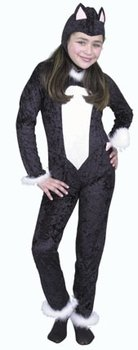 Child's Girl's Cat Jumpsuit Halloween Costume (Size:Large 10-12)