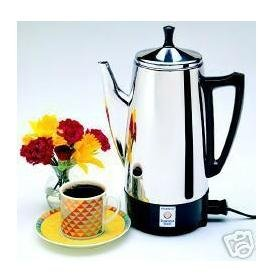 Presto 12 Cup Stainless Steel Perk Brews Great Tasting Coffee Rich Hot And Fast Easy Cleaning from Presto
