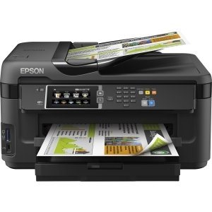 Epson WorkForce 7610 Inkjet Multifunction Printer - Color - Photo Print - Desktop - Copier/Fax/Printer/Scanner - 32 ppm Mono/20 ppm Color Print - 18 ppm Mono/10 ppm Color Print (ISO) - 18 ipm Mono/10 ipm Color Print (ISO) - 52 Second Photo - 4800 x 2400 d