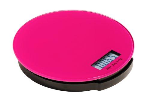 Premier Housewares 0807248 Zing Balance de Cuisine Électronique en Verre Base ABS Fuchsia 2 kg